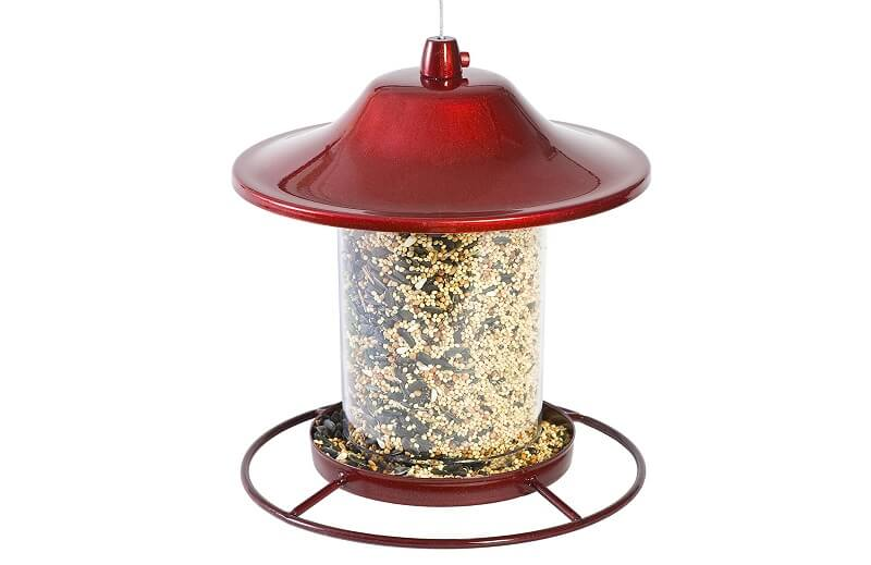 Perky-Pet Red Sparkle Panorama Bird Feeder