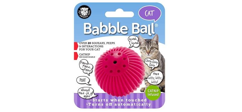 Pet Qwerks Kitty Babble Ball