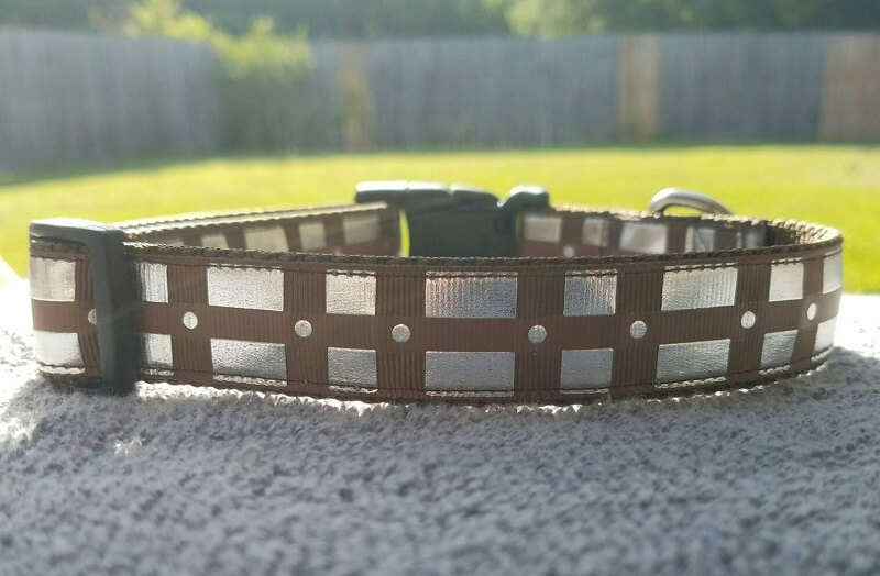 Chewbacca belt Collar with silver foil