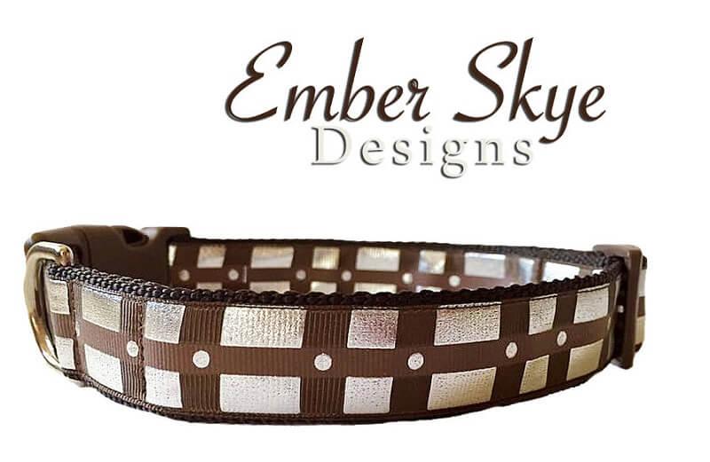 Chewbacca Inspired Adjustable Dog Collar