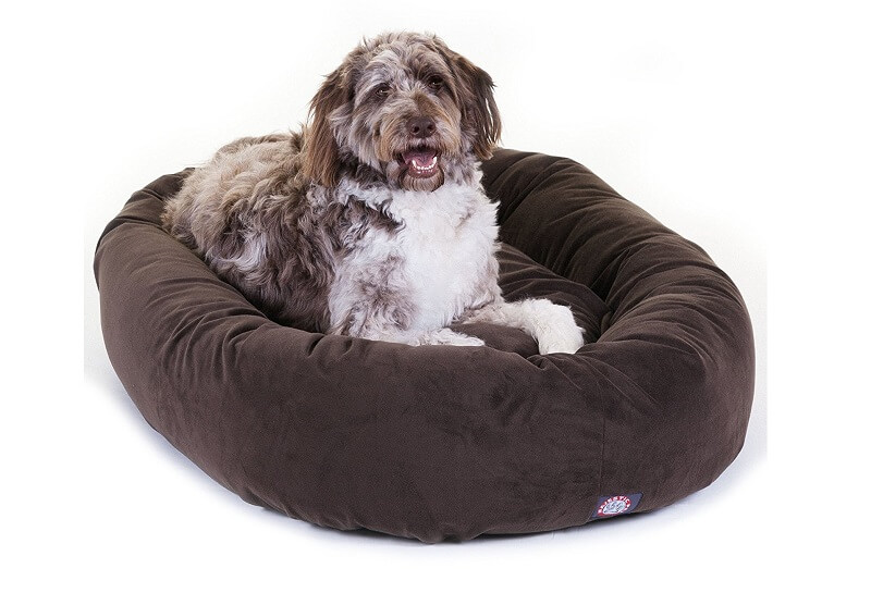 suede dog bed for oversized dogs