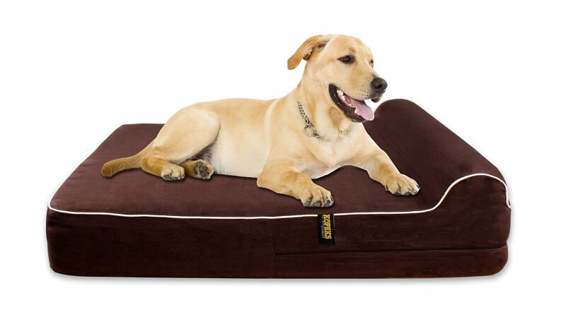 "Extra Large 7"" Thick Orthopedic Memory Foam Dog Bed"