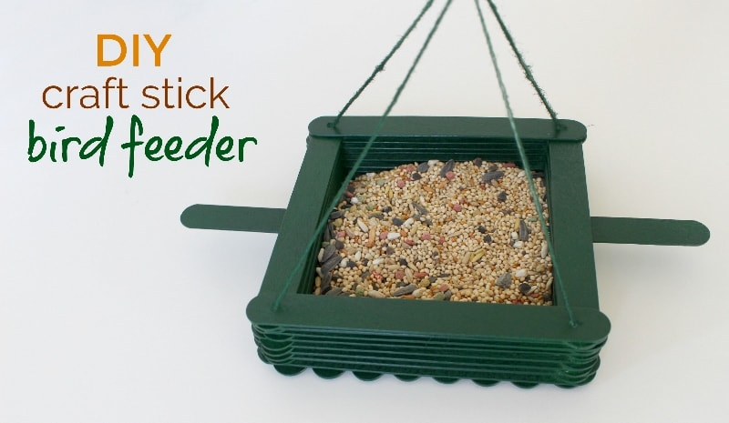 Eays Diy Bird Feeder Made Of Craft Sticks Animallama