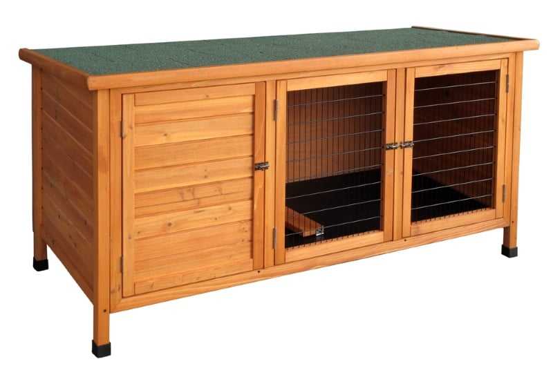 Wooden hutch for guinea pigs