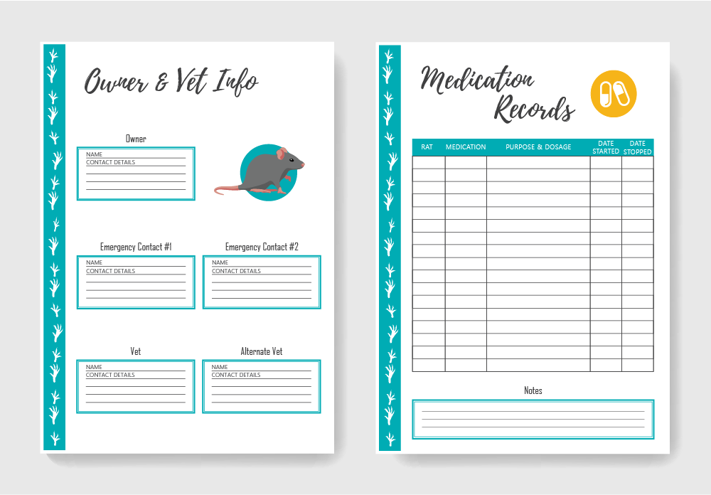 Rat Care Planner - pages